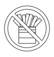 fast food prohibited vector image vector image