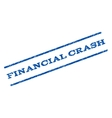 Financial Crash Watermark Stamp vector image vector image