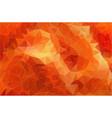 flat orange polygonal background vector image vector image