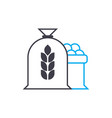 flour production linear icon concept flour vector image vector image
