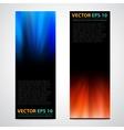 Flyer template header design vector image vector image