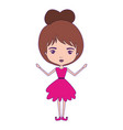girly fairy without wings and brown collected hair vector image vector image