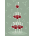glass tower wine vector image vector image