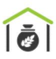 grain storage halftone icon vector image vector image