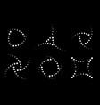 halftone circular dotted frames set circle dots vector image vector image