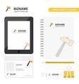 hammer business logo tab app diary pvc employee vector image vector image