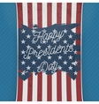 Happy Presidents Day USA national Flag Banner vector image