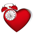 Heart alarm vector image