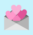 heart shape love letter graphic vector image