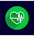 Heartbeat Echocardiography Cardiac exam Form vector image