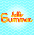 Hello Summer enjoy text lettering vector image vector image