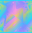 holographic maze seamless texture vector image vector image