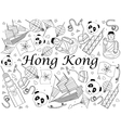 Hong Kong coloring book vector image