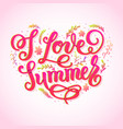 I love summer trendy lettering poster handwritten
