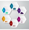 infographics with hexagons vector image