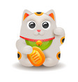 japanese lucky cat maneki neko isolated on white vector image vector image