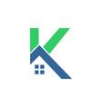 k home logo vector image