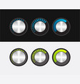knob to adjust the volume in a metal style vector image vector image