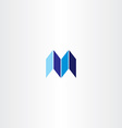 letter m logotype logo m blue icon sign vector image vector image
