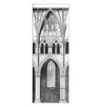 lincoln cathedral the nave of lincoln cathedral vector image