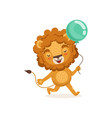 lion cartoon character walking vector image vector image