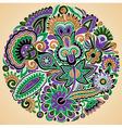 marker flower ethnic design vector image vector image