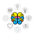 mental health brain with care tips vector image vector image