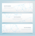 minimal wire banners set of three vector image vector image