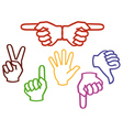 multicolored hands vector image vector image