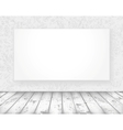 new media banner in a old room vector image
