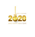 new year poster with greeting text golden vector image vector image