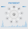 payment infographic with icons contains such vector image