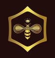 queen bee logo vector image vector image
