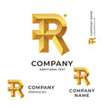 r letter modern logo identity brand icon business vector image vector image