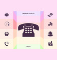 retro telephone icon graphic elements for your vector image