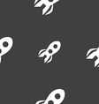 Rocket icon sign Seamless pattern on a gray vector image vector image