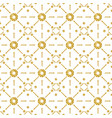 seamless pattern with golden glittering circles vector image vector image