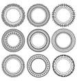set black doodle frames vignettes vector image vector image