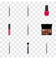 set of maquillage realistic symbols with eye vector image vector image