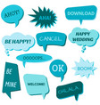 set of speech bubbles on a white background vector image vector image