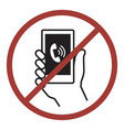 sign of do not phone vector image vector image
