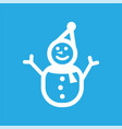 snowman icon design template isolated vector image vector image