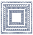 Square frame with greek ornament meander style vector image vector image