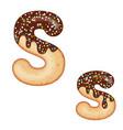 tempting typography font design 3d donut letter s