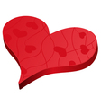 Valentines day red heart symbol vector image vector image