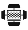 video camera flash icon simple style vector image vector image