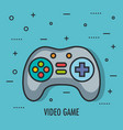 video game controller buttons device technology vector image