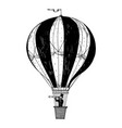vintage air balloon engraving vector image vector image