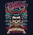 vintage tattoo festival poster vector image vector image