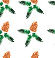 Watercolor seamless pattern - forest cones vector image